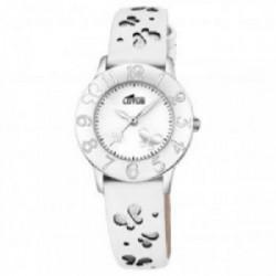 Reloj Lotus Correa Blanca mariposas - 18269/1